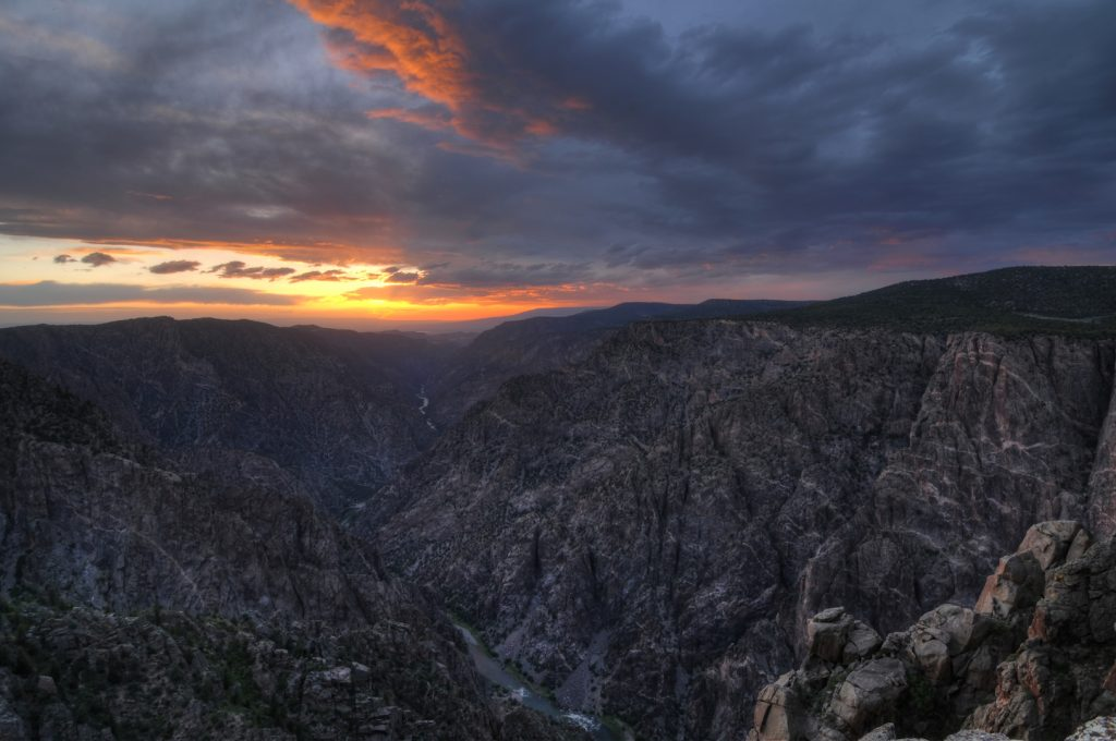 Sunset View Overlook, Black Canyon of the Gunnison National Park