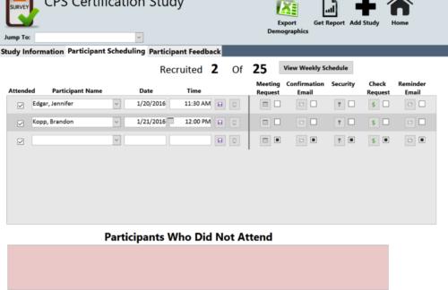 OSMR Participant Recruitment Database