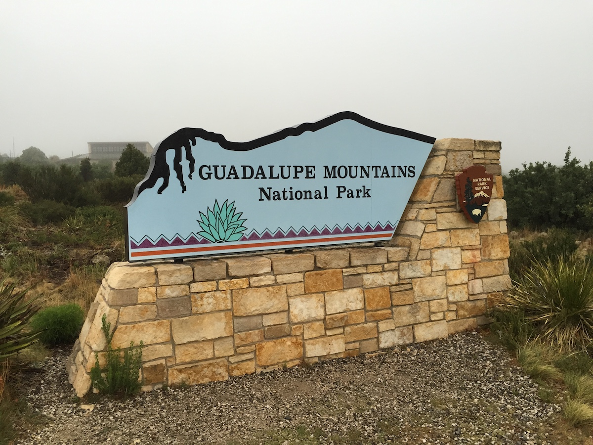 Guadalupe Mountains National Park Sign